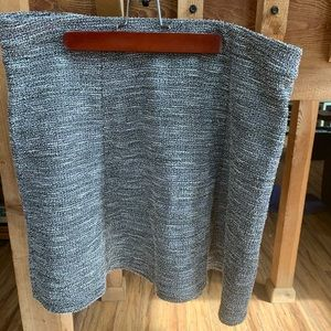 LOFT brand grey/white tweed short A-line skirt